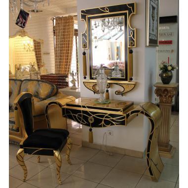 Консоль с зеркалом и креслом